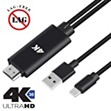 HDMI Adapter MHL HDTV Cable for Samsung Galaxy S8 S9 Plus Note 5 LG Moto Z2 Play Android Devices USB Type C Phone MacBook to TV Monitor Projector - Upgraded 4K 30FPS HD Video Digital Converter Cord (Color: for USB Type C)