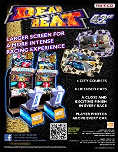 Namco Dead Heat Driving Arcade Game Machine, 42-Inch
