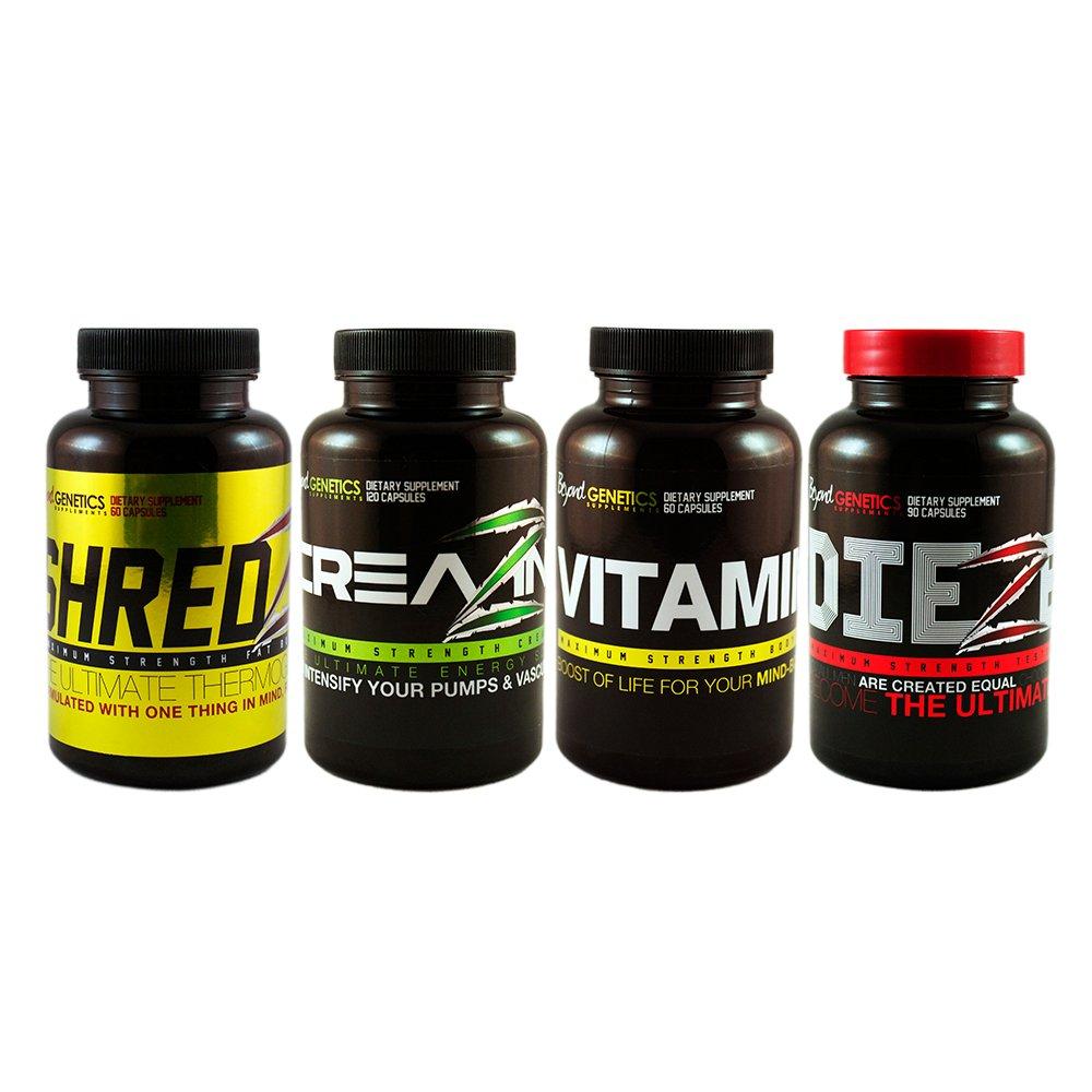Best Natural Testosterone Booster Reviews Creatine-Testosterone Alpha Male Stack SHREDZ + DIEZEL + CREAZINE + VITAMIN Z