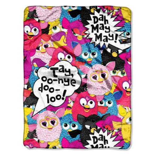 The Northwest Company Hasbro'S Furby Dah May May Micro Raschel Blanket, 46 By 60-Inch