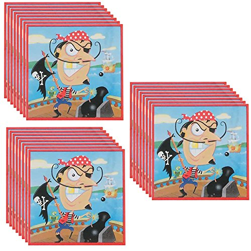 Gold Tooth Pirate Party Beverage Napkins - 48 Pieces - 1