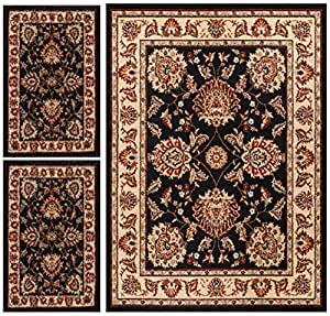 Abby oriental persian floral traditional for Traditional kitchen rugs