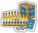 Bester Papa - Vatertagsbox , Biergeschenk zum Vatertag und Geschenkkarte und Geschenkverpackung. Geschenkidee zum Vatertag. (0,33l)