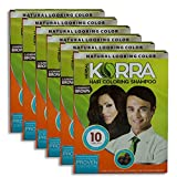 Ratan's Korra hair coloring shampoo Brown Color Pack of 6-30 ml Each