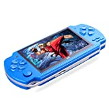 PSFS Handheld Game Console,8GB 4.3inch Screen 500 Classic Games Video Game Console (Blue) (Color: Blue)