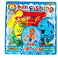 Childrens Bath Time Fun Foam Fishing Rod & Assorted Fish Set