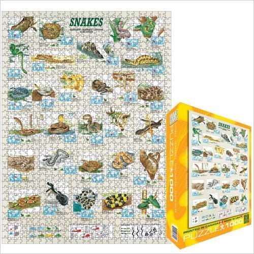 Cheap Eurographics Snakes 1000 Piece Jigsaw Puzzle Eurographics (B0039ZANCI)