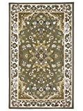 Area Rugs 8x10 Traditional Oriental Floral Area Rug Olive Green,Beige,Soft Rug,Living Room,dining room, foyer