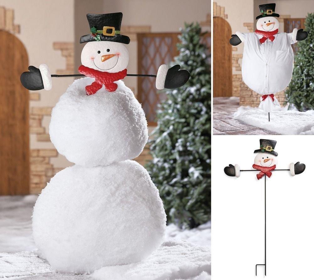 Как легко сделать снеговика