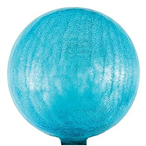 Achla G10TBC Crackle Glass Gazing Globe, Teal Blue, 10-Inch (Discontinued by Manufacturer)