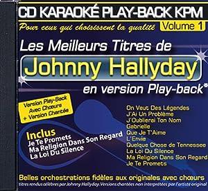 "CD KARAOKE PLAY-BACK KPM VOL.01 ""Johnny Hallyday"""
