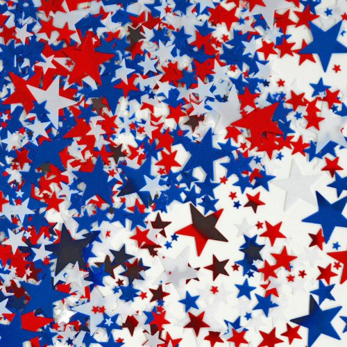 Beistle CN135 Stars Confetti, Red/White/Blue - 1