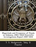 Magnitude and Frequency of Floods in Alabama, 2003: Usgs Scientific Investigations Report 2007-5204