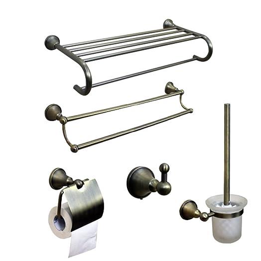 HCP Tutti gli accessori da bagno di rame/portasciugamani bronzo/barra di tovagliolo/titolare di carta igienica/gancio/Accessori bagno Set-A