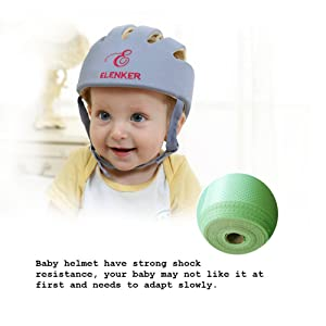 aa0387d95cc Baby Adjustable Safety Helmet Children Headguard Infant Protective  Harnesses Cap Gray (Color  Gray
