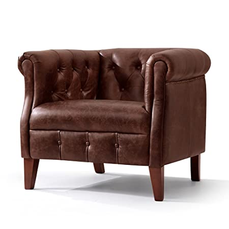 Fauteuil Chesterfield Regency en cuir Rose & Moore