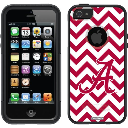 Special Sale Alabama - Lined Chevron design on a Black OtterBox® Commuter Series® Case for iPhone 5s / 5