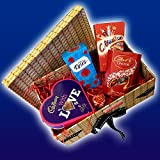 The With Love Chocolate Hamper Box - Cadbury, Lindt, Roses, Celebration Chocolates - By Moreton Gifts