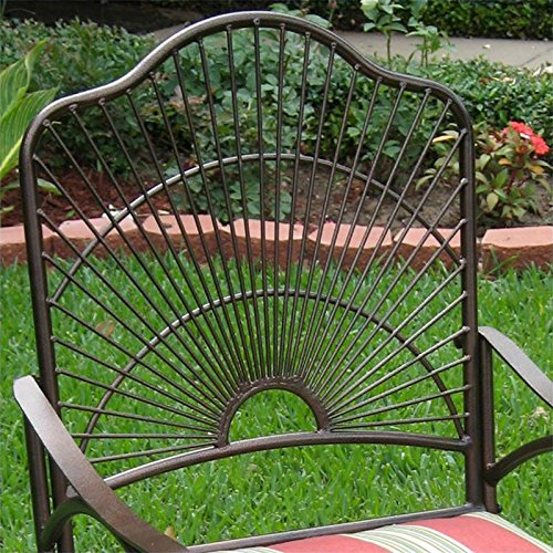 Iron Patio Sun Ray Bronze Rocking Chair image