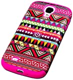 """myLife (TM) Rose Pink - Tribal Design (3 Piece Hybrid) Hard and Soft Case for the Samsung Galaxy S4 """"Fits Models: I9500 I9505 SPH-L720 Galaxy S IV SGH-I337 SCH-I545 SGH-M919 SCH-R970 and Galaxy S4 LTE-A Touch Phone"""" (Fitted Front and Back Solid Cover Case + Internal Silicone Gel Rubberized Tough Armor Skin + Lifetime Warranty + Sealed Inside myLife Authorized Packaging) """"ADDITIONAL DETAILS: This three layer Galaxy S4 armor skin gel fit together case is made of grip easy smooth silicone and hardshell plates that slide in to your pocket easily yet won"""