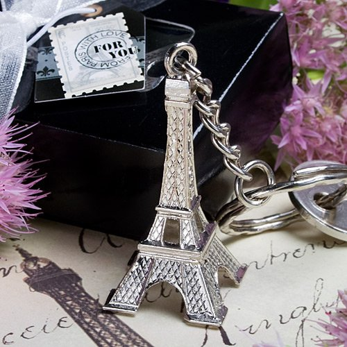 Eiffel Tower Key Chain Favors [Set Of 12]