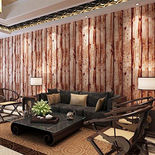 hanmero papier peint intisse motif de bois naturel pour chambre salon tv fond. Black Bedroom Furniture Sets. Home Design Ideas