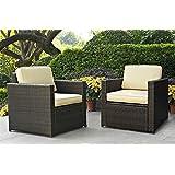 Outdoor Wicker Arm Chair - Set of 2