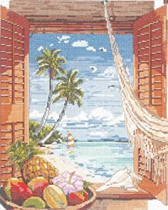 Janlynn Tropical Vacation Counted Cross Stitch Kit