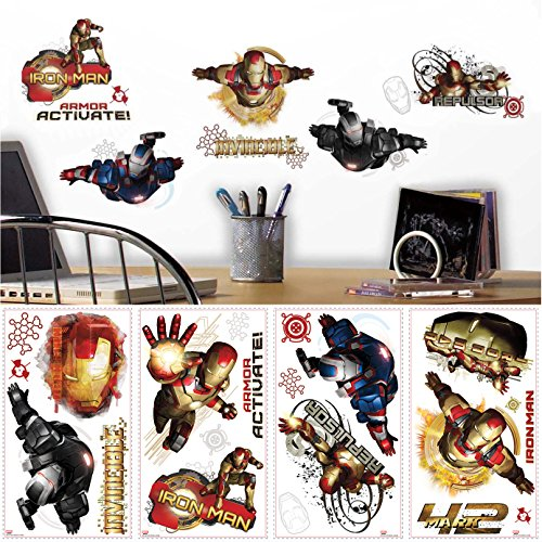 RoomMates RMK2191SCS Iron Man 3 Edgy Peel and Stick Wall Decals