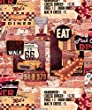 American dinner wallpaper which is a quality smooth flat finish Easy to hang,(Red)
