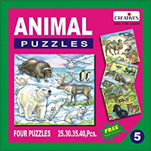 Creative Educational Aids 0705 Animal Puzzle No. 5 (25 to 40 Piece)