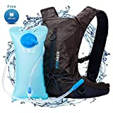 Hydration Backpack for Running Walking Hiking Biking Cycling Skiing - 50 OZ/1.5L Pack Water Bladder - Lightweight Running Gear - For Women Men Kids - Perfect Outdoor Camping Gear - Hydration Vest (Color: Blue)