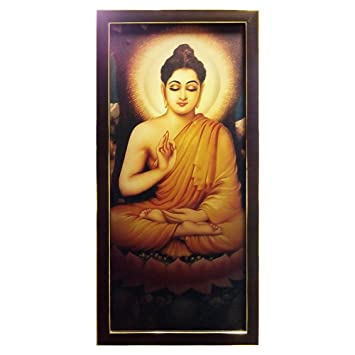 peaceful lord gautam buddha canvas print frame by returnfavors
