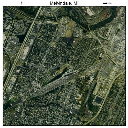 Aerial Photography Map of Melvindale, Michigan