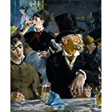Tallenge Old Masters Collection - At The Café By Édouard Manet - A3 Size Premium Quality Rolled Poster