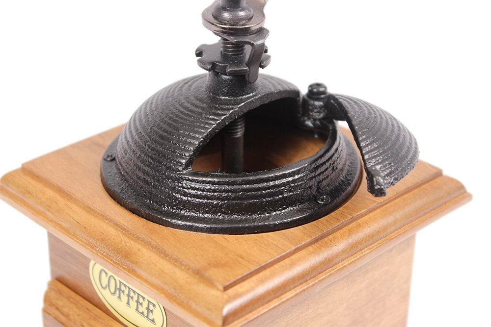 Manual Cast Iron Coffee Bean Grinder with Drawer 2