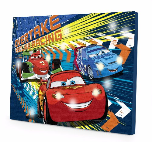 Disney Cars 2 LED Canvas Wall Art, 15.75-Inch x 11.5-Inch - 1