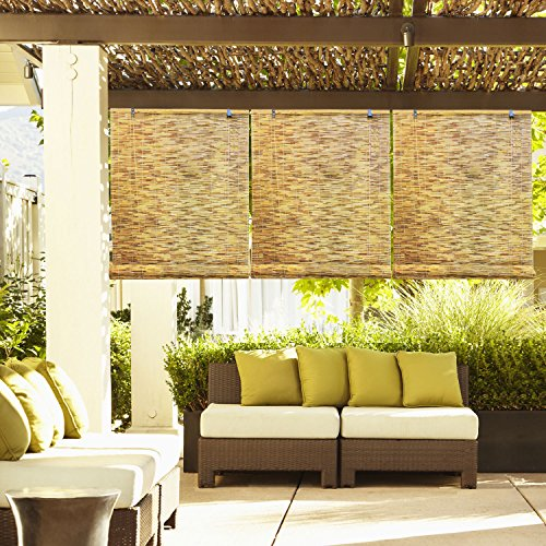 Radiance 0360366 Natural Reed Woven Wood Bamboo Roll Up Window Blinds, 36-Inch Wide by 72-Inch Long (Outdoor Bamboo Shades Roll Up compare prices)