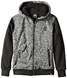 Southpole Big Boys' Hooded Full Zip Fleece Marled with Sherpa Lining