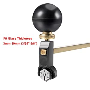 uxcell 60cm Adjustable Compasses Type Glass Circle Circular Cutter with Suction Cup (Color: Black,Brass Tone, Tamaño: 60cm)