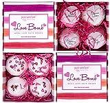 Bath Bombs Gift Set - Luxury Bath Fizzies - Lush Size 6oz Natural Bath Balls - US Made - Love Bomb