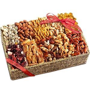 Golden State Fruit Grand Gourmet Savory Snacks Gift Basket