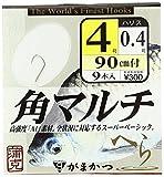 がまかつ(Gamakatsu) 糸付 A1角マルチ(白)90cm 4-0.4