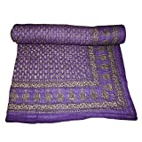 Frabjous Emposo Cotton Single Size Quilt -Purple