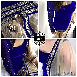 blue Velvet Dress materials (H105-04_blue_Free size)