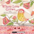 Orange Circle Studio 2015 Magnetic Message Center 17-Month Calendar, Where Love Grows (13516)
