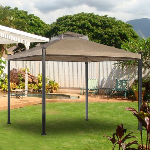 Replacement Canopy For Backyard Creations Gazebo : Everton Gazebo Replacement Canopy  RipLock 350  Gazebos  Patio and