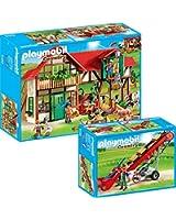 PLAYMOBIL® Country ferme set en 2 parties 6120 Grand ferme + 6132 tractapis roulant mobile