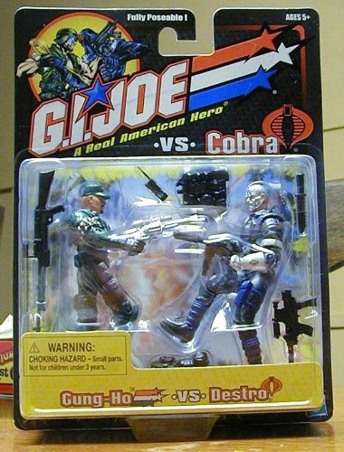 GI JOE vs. COBRA Gung-Ho vs. Destro (Blue Uniform) Action Figure 2 Pack - 1