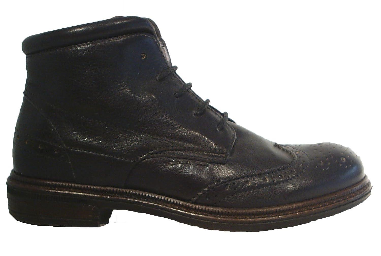 Momino Leder Oxford Style Stiefel Schnürstiefel Halbschuhe schwarz günstig bestellen
